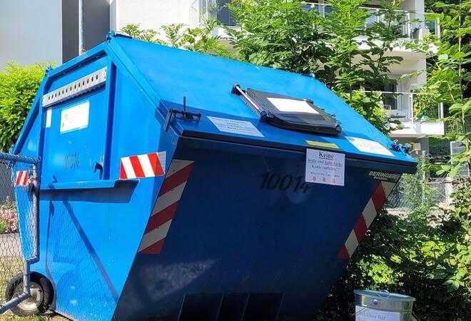 Eberbach:  Müll soll hinter Sichtschutz