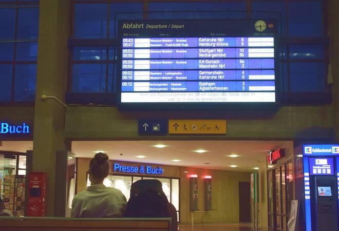 Bahnstreik:  Massive Beeinträchtigungen auch in Rhein-Neckar