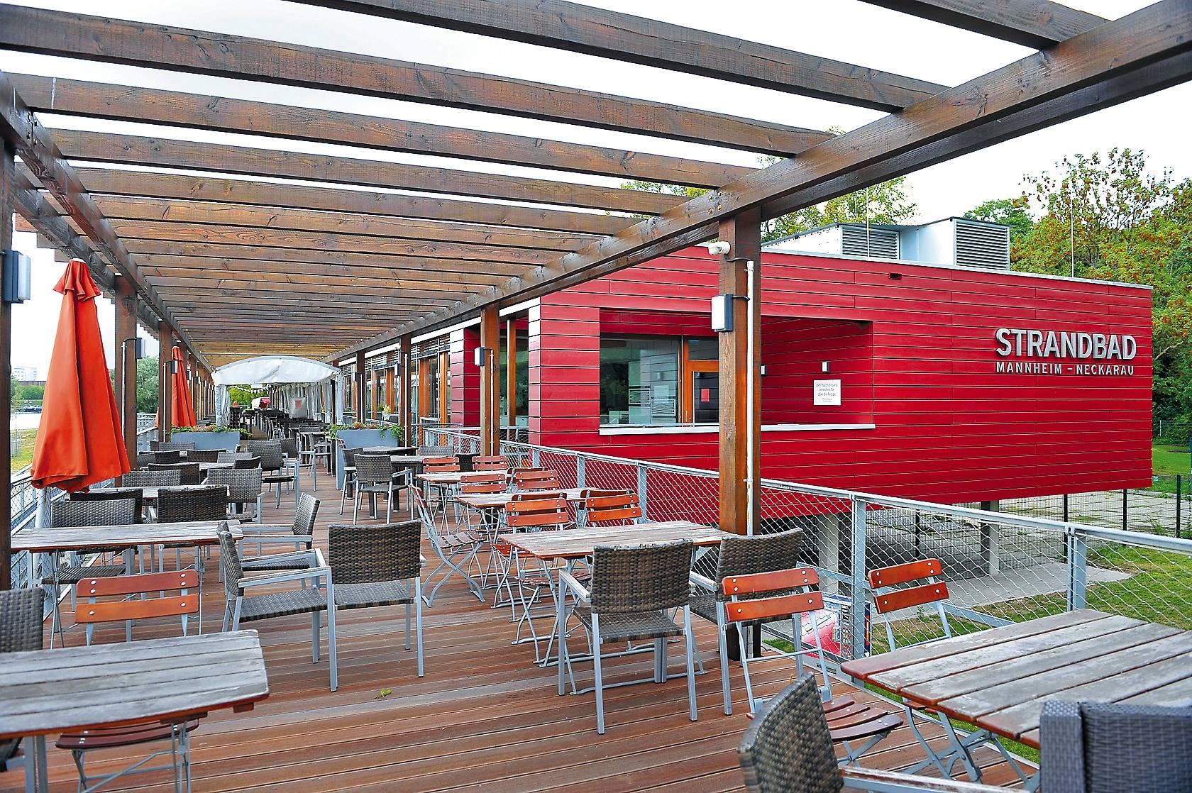 das mannheimer strandbad restaurant steht vor dem aus nachrichten aus mannheim rhein neckar. Black Bedroom Furniture Sets. Home Design Ideas