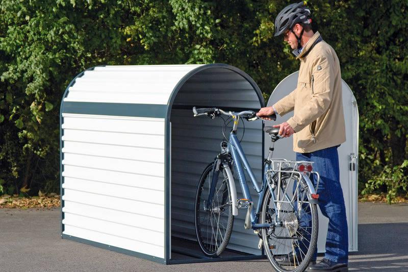 der schuppen macht karriere gartenhaus f r fahrrad und m lltonne haus garten rhein. Black Bedroom Furniture Sets. Home Design Ideas