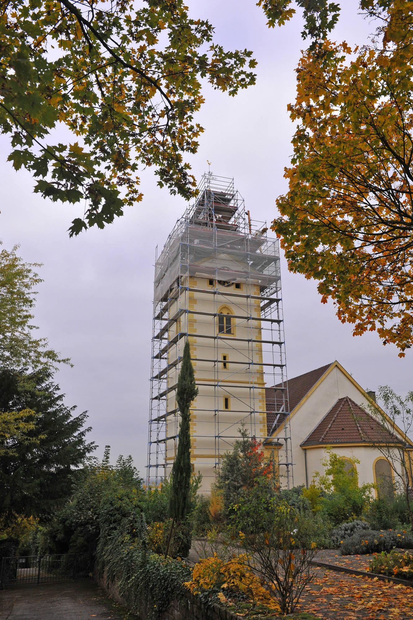 hirschberg leutershausen kirchturm sanierung wird teurer als gedacht bergstra e rhein. Black Bedroom Furniture Sets. Home Design Ideas