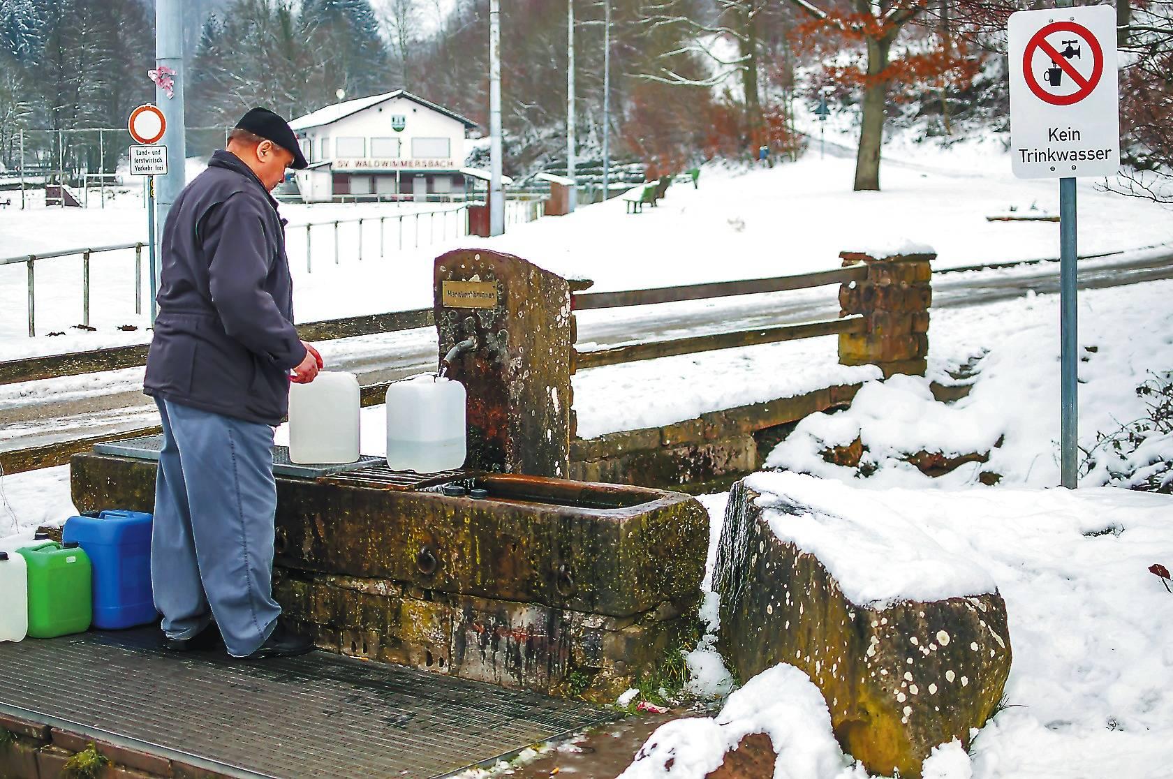 Brunnen bei Lobbach: Trinkwasser sprudelt hier keines mehr ...
