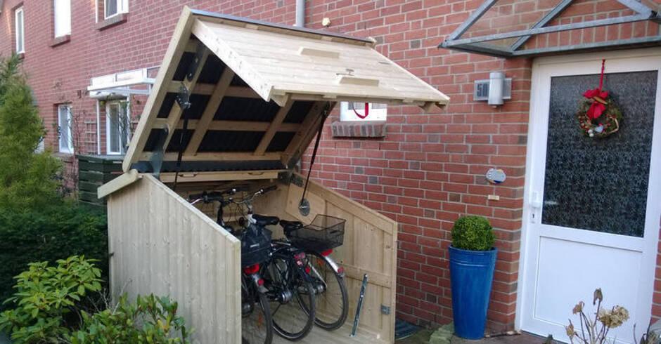 Der Schuppen macht Karriere – Gartenhaus für Fahrrad und Mülltonne ...