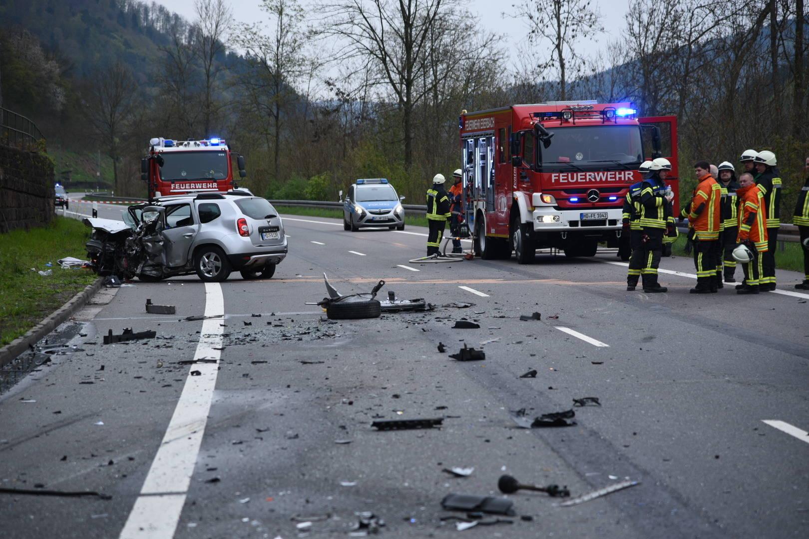B 37 bei Hirschhorn: 75-Jähriger stirbt bei Verkehrsunfall - Zwei ...