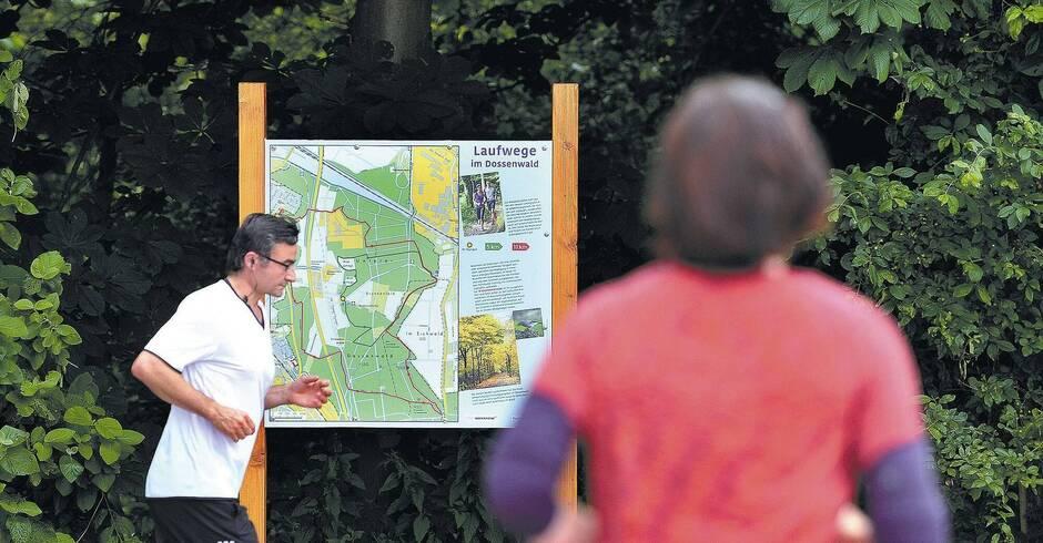 Entfernungsmesser Für Jogger : Der mannheimer dossenwald wird für jogger jetzt noch attraktiver
