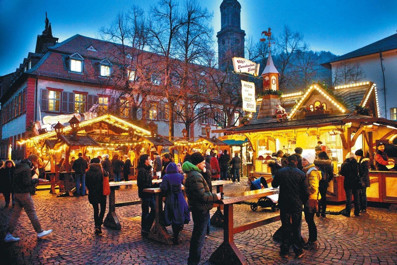 öffnungszeiten Weihnachtsmarkt Heidelberg.Heidelberger Weihnachtsmarkt Am 26 November Geht Es Los Alles