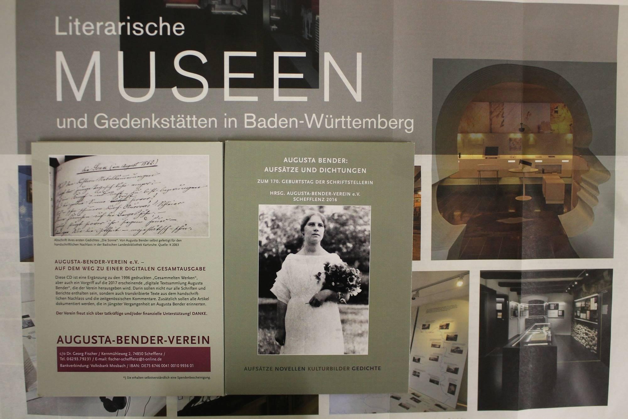 ein literatur museum augusta bender soll in oberschefflenz realitt werden um dieses ziel zu erreichen grndete sich ein gleichnamiger verein - Michl Muller Lebenslauf