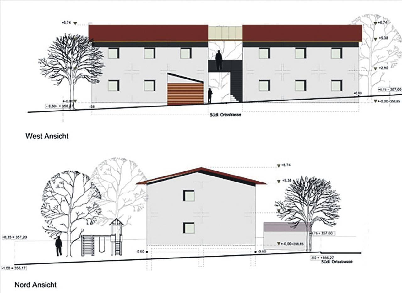 Ist Dies Ein Gebaude Mit Architektonischer Gliederung Oder Sinds Doch Zwei Hauser Skizze Beuchle Architekten