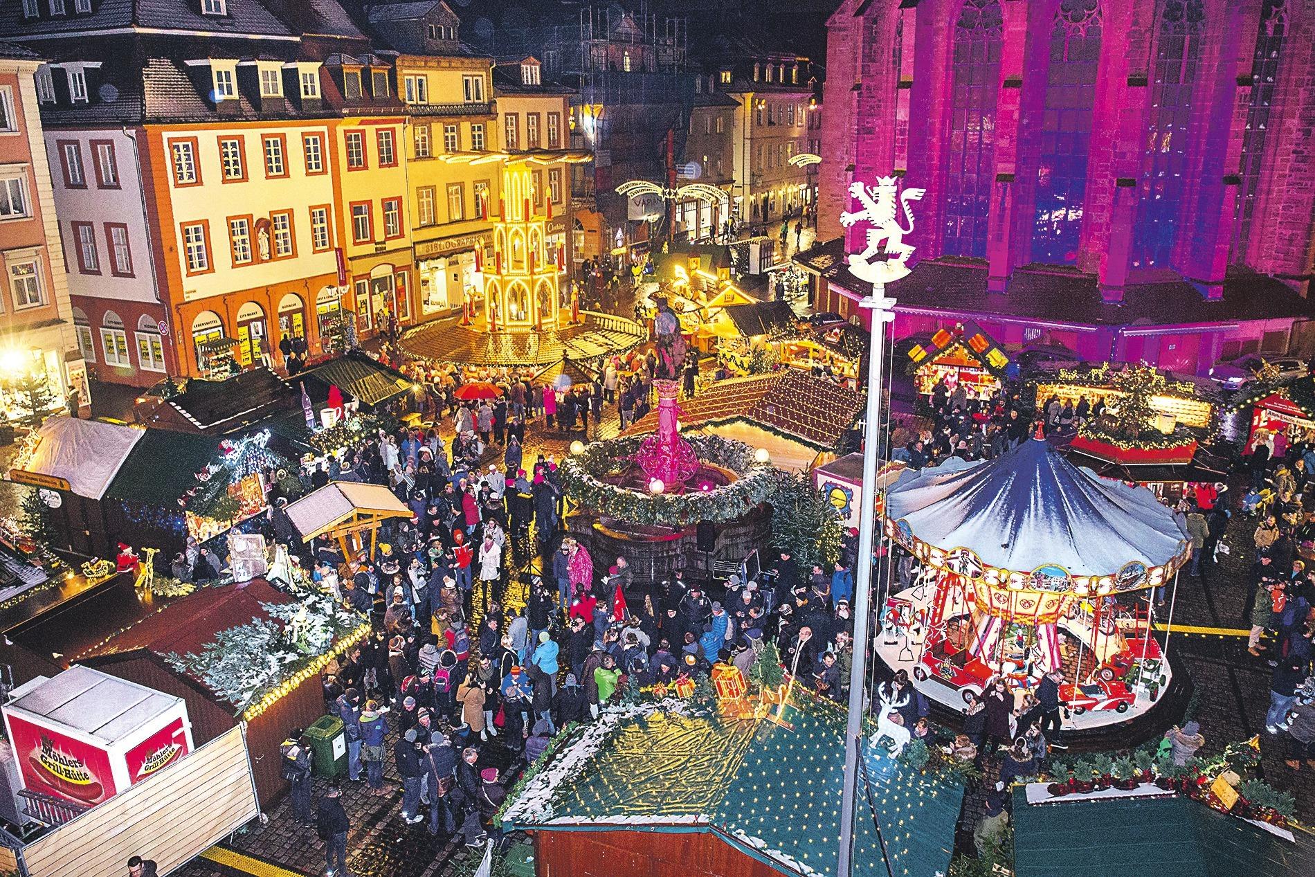 Pinker Weihnachtsmarkt.Heidelberger Weihnachtsmarkt Das War Los Beim Pink Monday