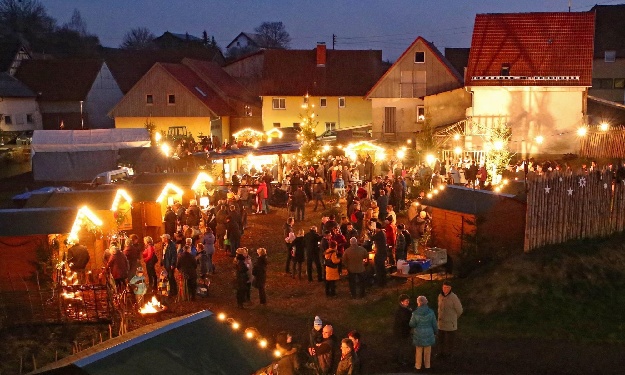 Weihnachtsmarkt Morgen.Hardheim Gerichtstetten Keltenschanze Wird Zum Weihnachtsdorf