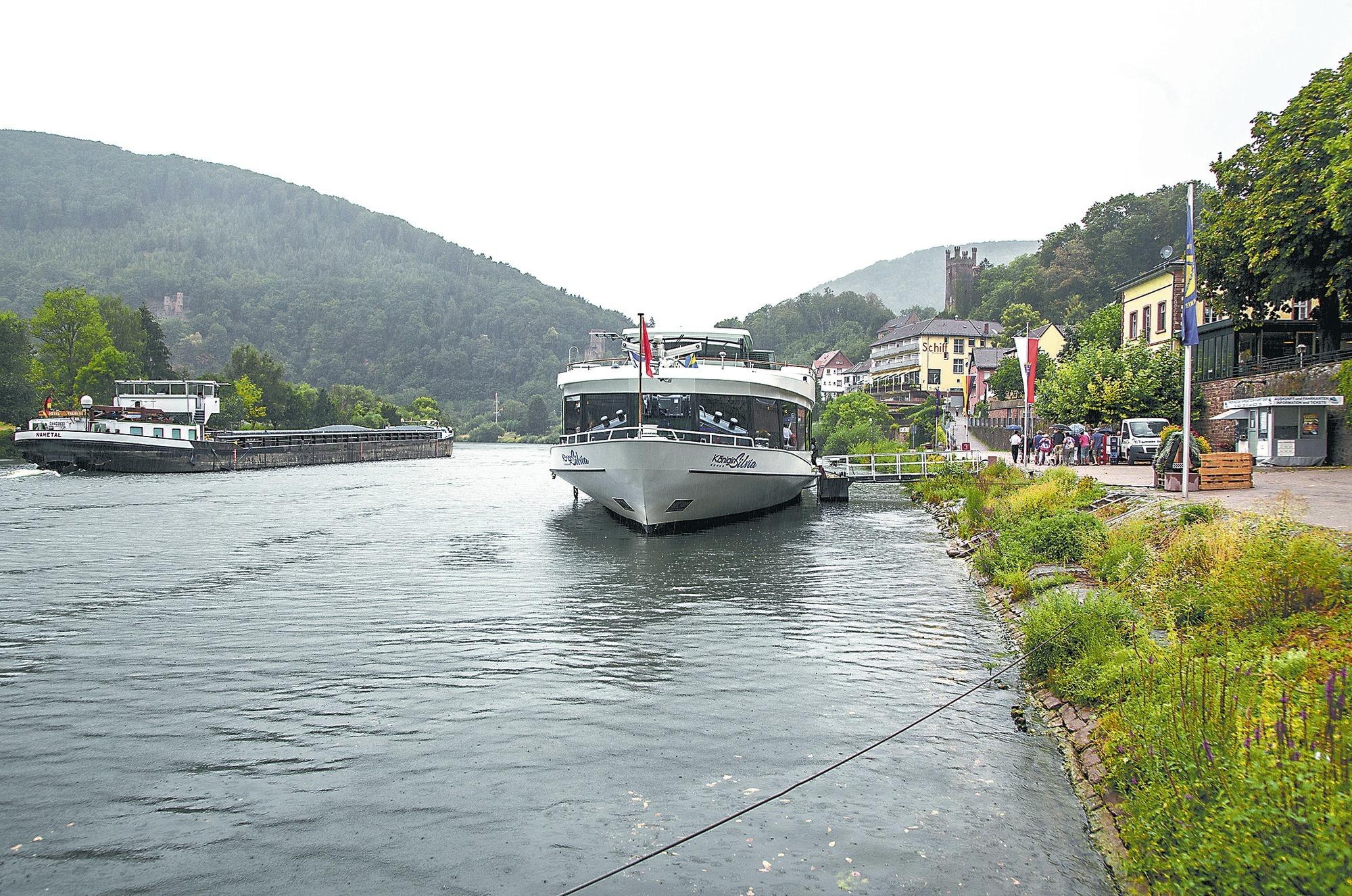 Flusskreuzfahrt-Touristen: In Neckarsteinach sind alle Touristen ...