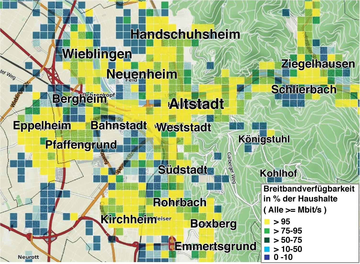 Unitymedia Verfügbarkeit Karte.Heidelberg Wo Es Schnelles Internet In Der Stadt Gibt Und Wo