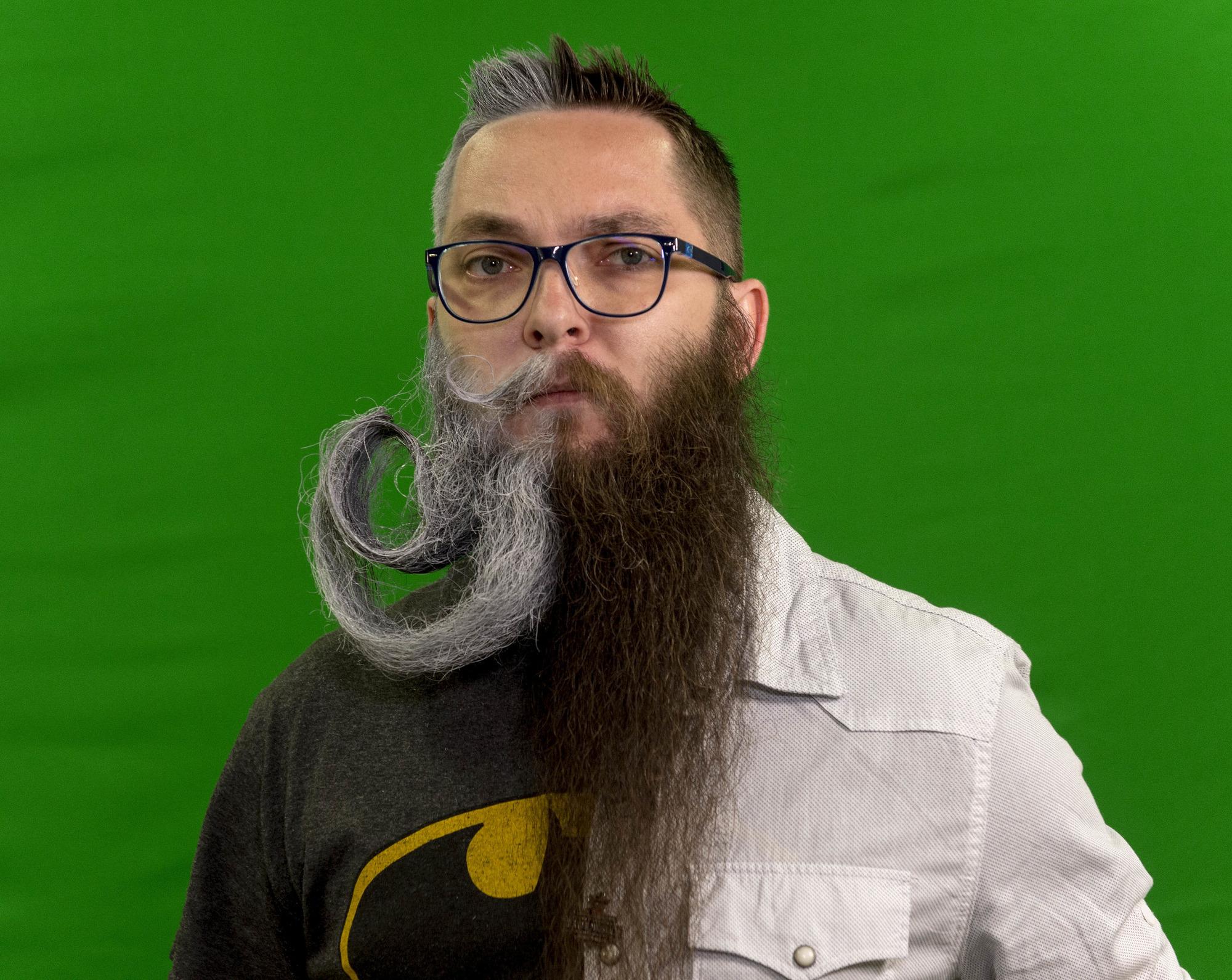 Nicht sichtbar bart Bart wächst