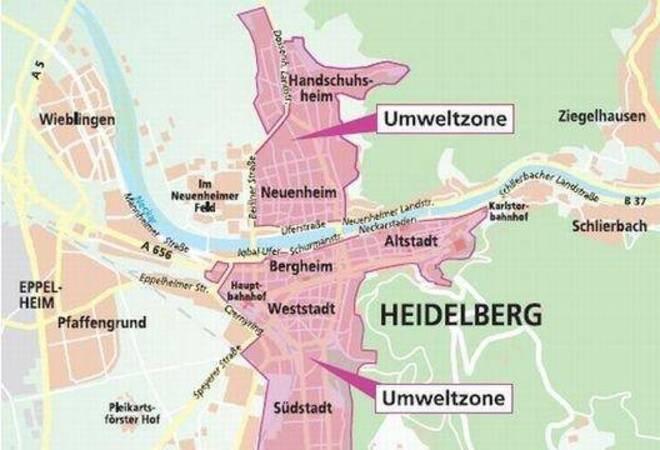 Umweltzone Karlsruhe Karte.In Die Umweltzone Nur Noch Mit Grüner Plakette Rhein Neckar