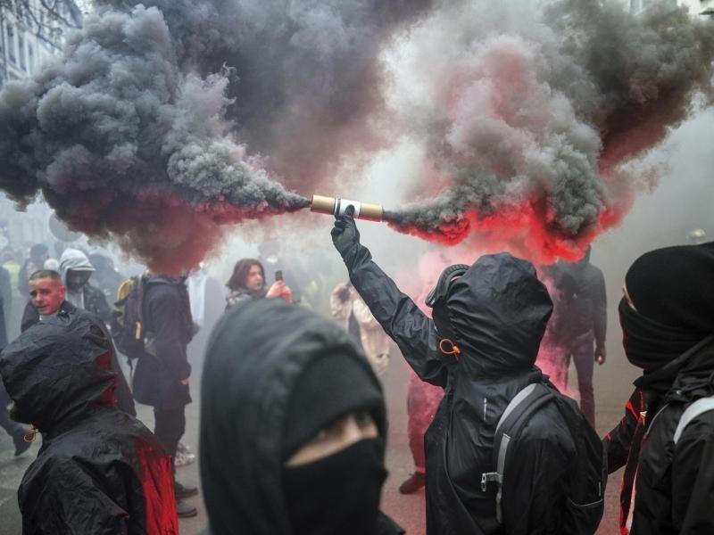 Protest Frankreich