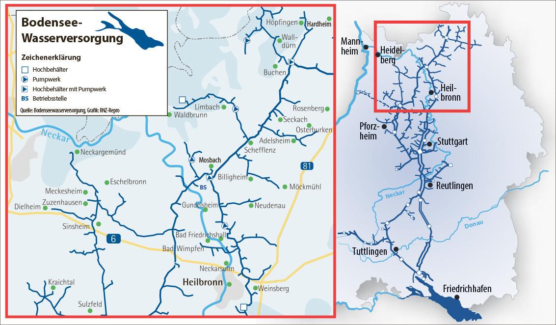 bodensee wasserversorgung karte Wasserknappheit: Warum Nordbaden Bodensee Wasser trinkt (plus